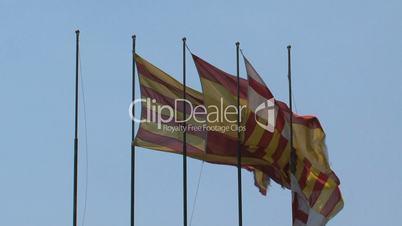 Spanish flag,Barcelona,,Spain