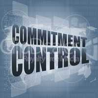 commitment control on digital touch screen