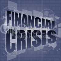 financial crisis concept - business touching screen