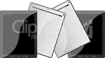 Set of mobile electronic technics. tablet pc set