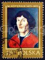 postage stamp poland 1973 nicolaus copernicus