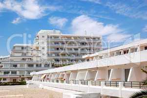 Building of the popular hotel, Tenerife island, Spain