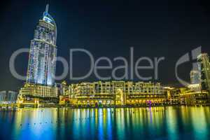 Address Hotel in the downtown Dubai area overlooks the famous da