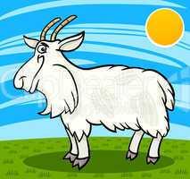 hairy goat farm animal cartoon illustration