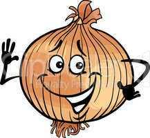 cute onion vegetable cartoon illustration