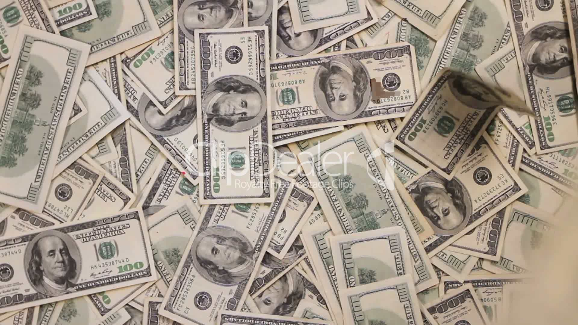 Money Falling Background: Royalty-free video and stock footage