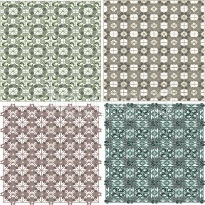 Morocco Seamless Patterns Background Set