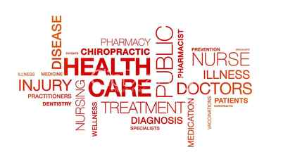 Health Care Word Cloud Animation