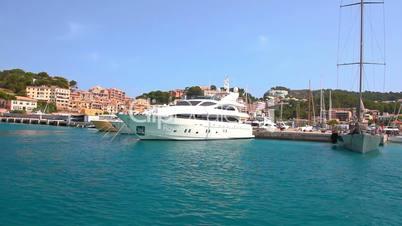 Yachts in Port de Soller, Mallorca Island, Spain