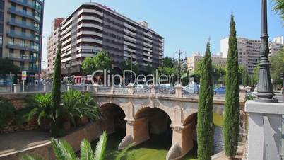 Old bridge in center of Palma de Mallorca, Mallorca Island, Spain