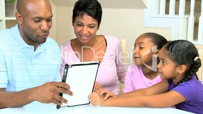 Ethnic Family Using Online Web Chat