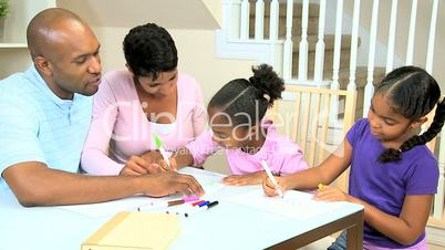 Cute Little Girls Drawing Pictures