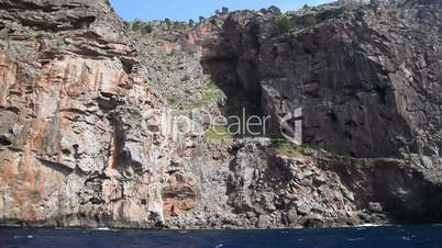 Rocky seashore of Mallorca Island, Balearic Islands, Spain