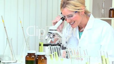 Female Medical Researcher in Laboratory