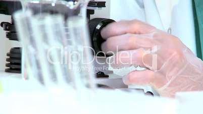 Female Medical Researcher in Laboratory