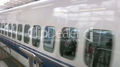 High-speed train departs