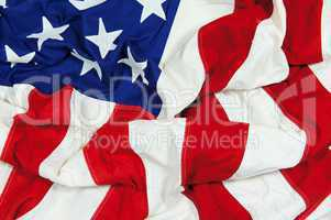 Crumpled and Wrinkled American Flag Background