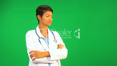 Female Doctor Green Screen Technology