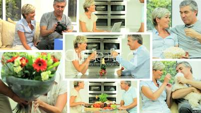Montage of Mature Couple Leisure Lifestyle