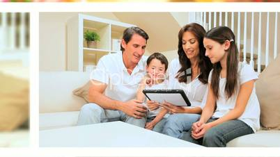 Technology Lifestyle of Young Caucasian Family