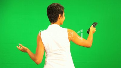 African American Female Remote Green Screen Technology