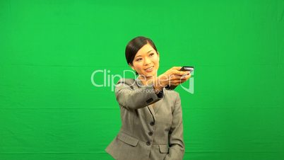 Asian Chinese Female Remote Green Screen Technology