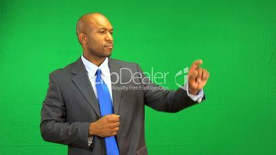 Ethnic Businessman Virtual Business Environment Success