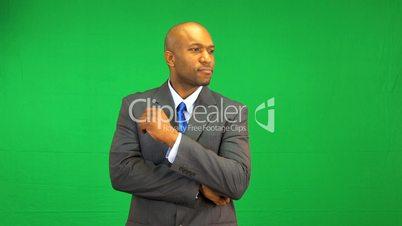 Ethnic Businessman Green Screen Technology