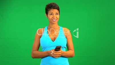 Remote Control Green Screen Fitness Female