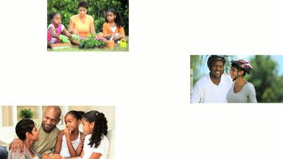 Montage Images of Modern Ethnic Family Lifestyle