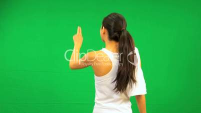 Asian Chinese Female Fitness Green Touch Screen