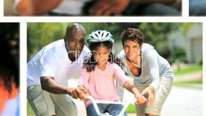 Lifestyle Montage of Young Ethnic Family