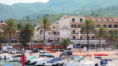 Old tramway in Port de Soller, Mallorca Island, Spain
