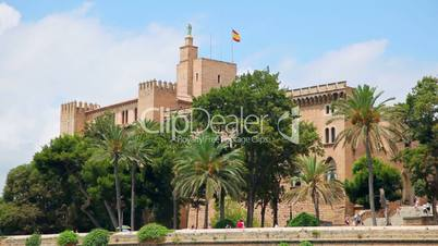 Royal Palace in Palma de Mallorca, Mallorca Island, Spain
