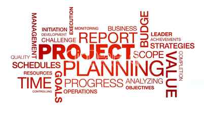 Project Planning | Project Planning Word Cloud Animation Lizenzfreie Stock Videos Und