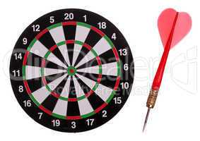 dart board with red arrow