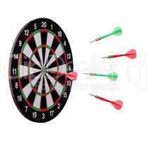arrows flying to dard board