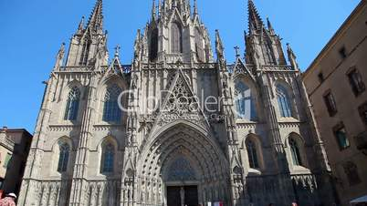 Cathedral in Barcelona, Catalonia, Spain