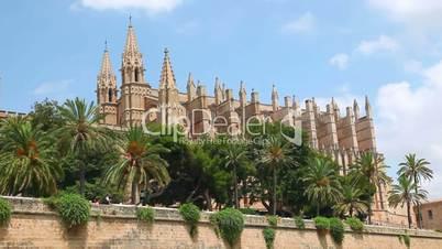 Cathedral La Seu in Palma de Mallorca, Mallorca Island, Spain