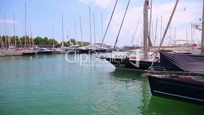Yachts in port, Palma de Mallorca, Mallorca Island, Spain