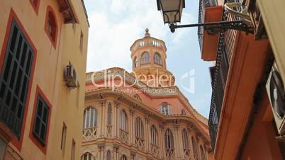 Old building in Palma de Mallorca, Mallorca Island, Spain