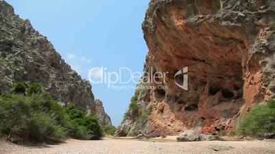 Mountains in Sa Calobra, Mallorca Majorca Island, Spain