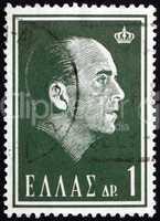 postage stamp greece 1964 paul i, king of greece