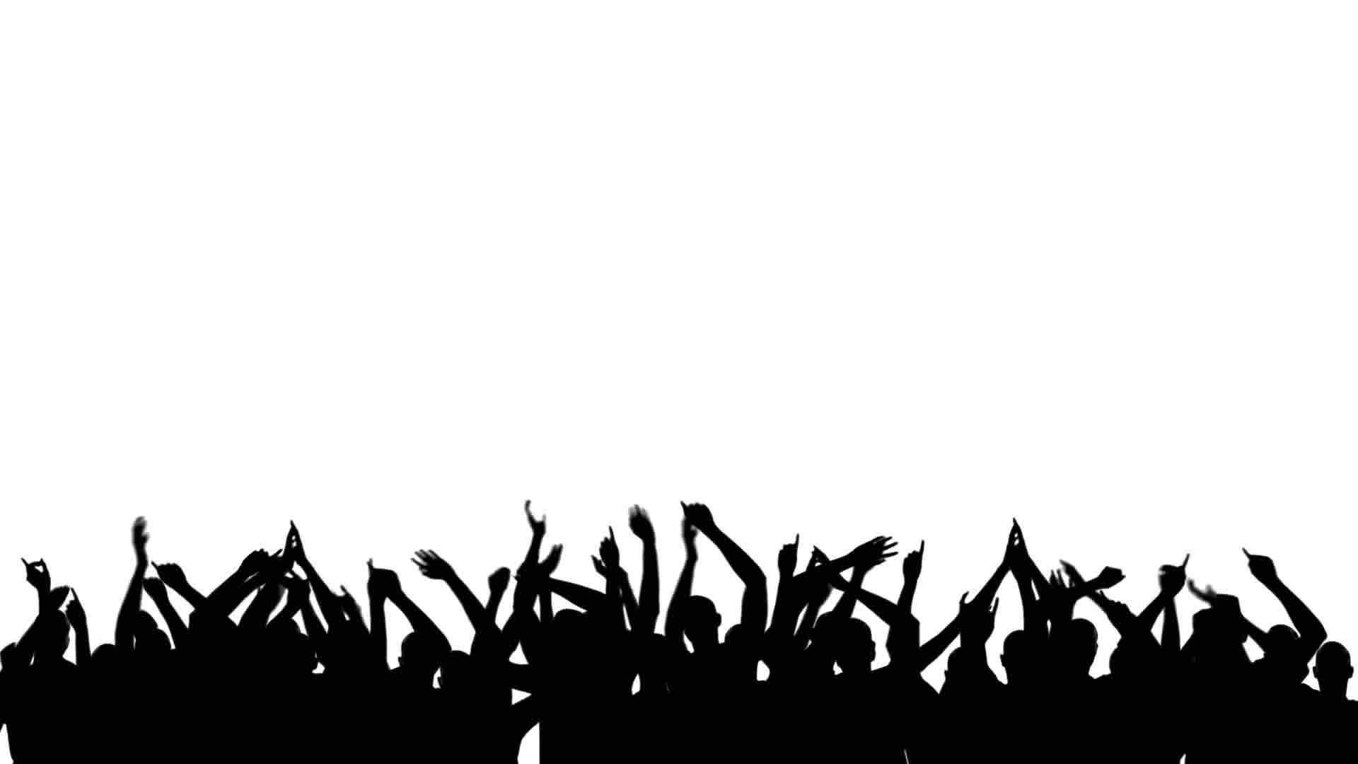 party crowd silhouette royalty free video and stock footage fist clip art free fish clipart border