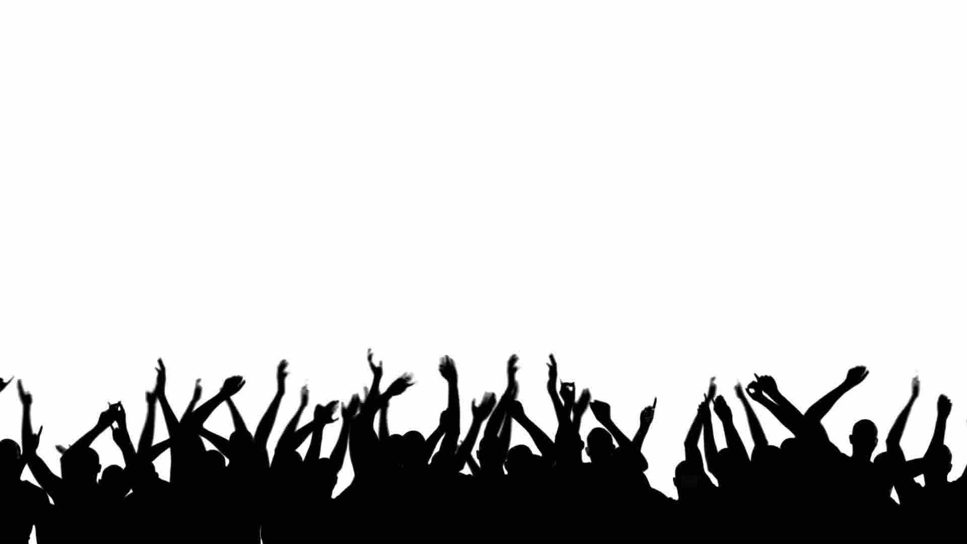 Party Crowd Silhouette: Royalty-free Video And Stock Footage