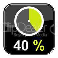 Web Button: % Prozent