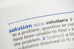 Solution definition