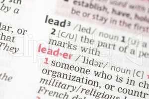 Leader definition