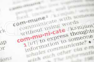 Communicate definition
