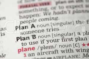 Plan B definition